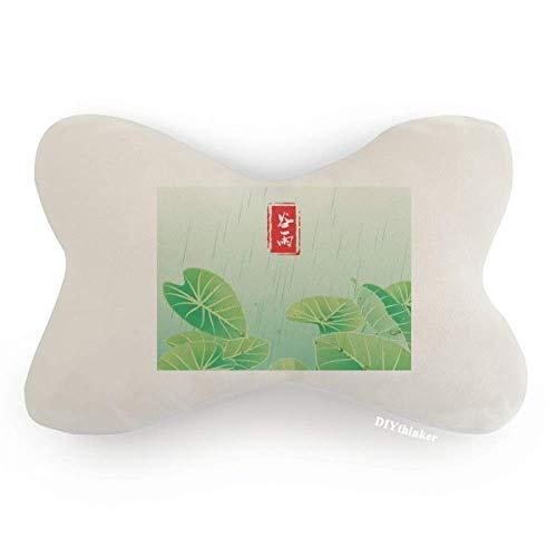 DIYthinker Circlar Grain Rain Twenty Four Solar Term Car Neck Pillow Headrest Support Cushion Pad by DIYthinker