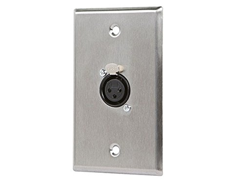 Monoprice 107396 XLR Female 3 -Pin One-Port Zinc Alloy Wall
