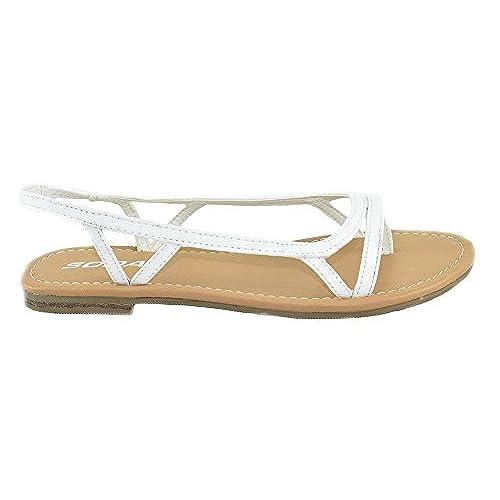 7a7449f17384 on sale Soda Shoes Women Flat Basic Sandals Ankle Strap Thongs Elastic  RIHANA