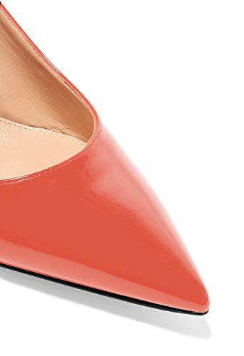 Tacco con Scarpe la Scarpe da Soireelady Arancione caviglia Donna cinturino col donna Scarpe dietro 14wXwTx08q