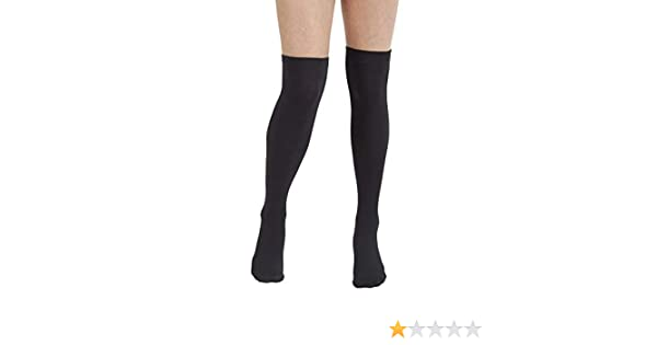 220f843df Plush Fleece Lined Thigh Highs (Black) at Amazon Women s Clothing store