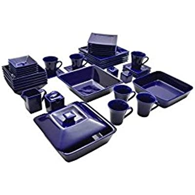 Click for Nova 45 Piece Square Dish Set Cobalt