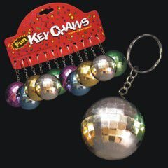 Mirrored Disco Ball Keychains (Mirror Ball Keychain)