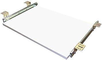 Tastaturauszug  weiss 80x40 cm Nutzhöhe XL 77mm Schublade Auszug für Tastatur