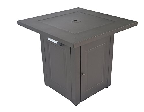 Legacy Heating 28-Inch Square Fire Table, Mocha