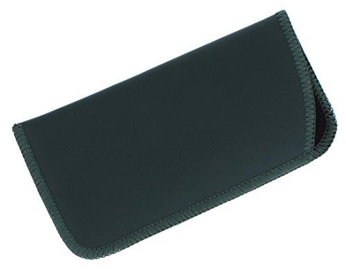 1 Pack Faux Leather Eyeglass Slip Case, Fits Medium to Large Frames, Hunter - Prescription Large Extra Eyeglasses