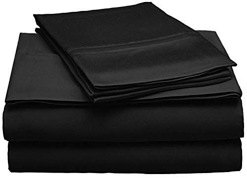 GoLinens Natural Beechwood Modal Sheet Set Black/Queen