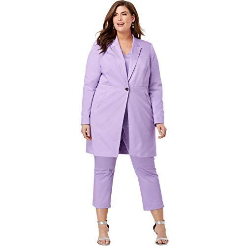 (Jessica London Women's Plus Size Crop Pantsuit - Bright Lilac, 26 W)