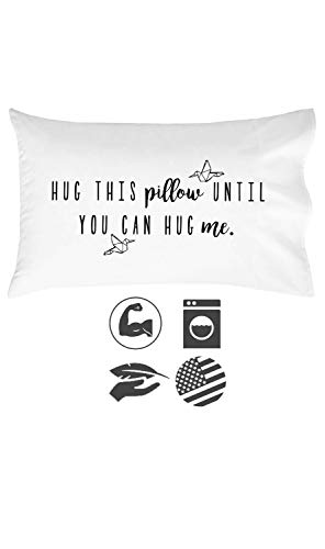 Oh, Susannah Hug This Pillow Until You Can Hug Me - LDR Pillow Case 20x30 Standard/Queen Size Pillowcase Long Distance Relationship Gifts Girlfriend Gifts (Good Valentines Day Gifts For Long Distance Relationships)