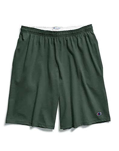 Champion Men's Jersey Short with Pockets, Dark Green, Large ()