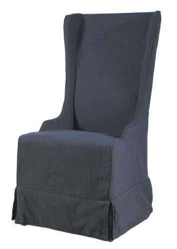 Padma's Plantataion Atlantic Beach Wing Dining Chair, Charcoal Linen Review