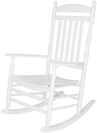 Shine Company Inc. 4333WT Rhode Island Rocking Chair, White
