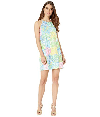 - Lilly Pulitzer Women's Margot Dress Multi Cheek to Cheek Large