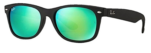 Ray Ban RB2132 New Wayfarer 622/19 Green Mirror ()