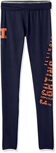 NCAA by Outerstuff NCAA Illinois Illini Juniors Elastic Heart Legging, Dark Navy, Small(3-5) ()