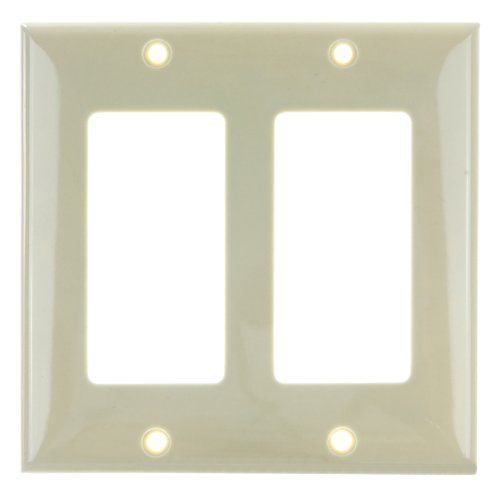 Sunlite 50722-SU E302/I 2 Gang Decorative Switch and Receptacle Plate, Ivory