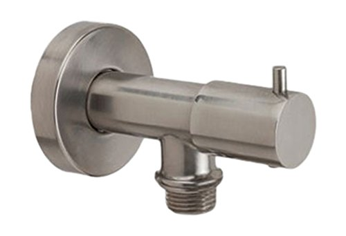 Jaclo 6462-SN Water Supply Elbow with On/Off Valve, Satin Nickel (Elbow Jaclo Supply Water)