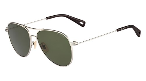 G-Star Raw GS104S Aviator Sunglasses, Silver Semi Matte, 58 - Raw G Sunglasses Star