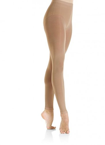 Mondor 3312 Footless Performance Figure Skating Tights - Caramel - L-G (Figure Skating Best Performances)