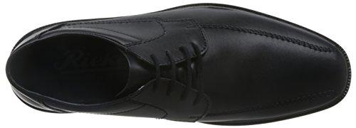 Rieker - Zapatos de cordones para hombre negro negro 40