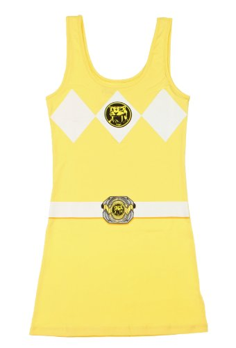[The Power Rangers Yellow Ranger Sexy Tunic Tank Dress (Juniors X-Large)] (Power Ranger Samurai Costumes)