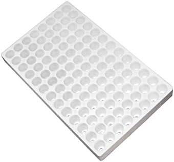 MillStore - Bandeja de Semillas de poliestireno Blanco para la siembra de Plantas de huerto y Flores