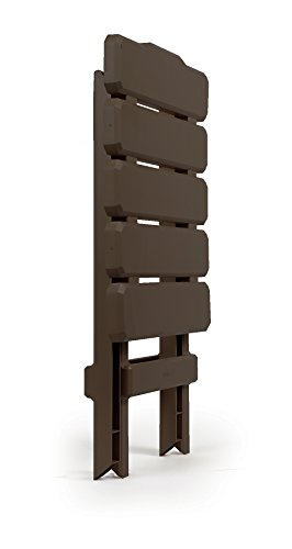 Camco Adirondack Portable Outdoor Folding Side Table, Perfect For The Beach, Camping, Picnics, Cookouts and More, Weatherproof and Rust Resistant – Mocha (51882)