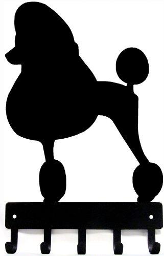 (The Metal Peddler Poodle Dog - Key Hooks & Holder - Small 6 inch Wide)