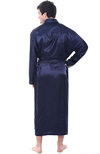 Del Rossa Mens Satin Robe, Long Lightweight Loungewear