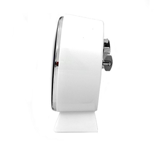 White Marathon CL034001WH Mechanical Wind-Up Alarm Clock