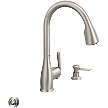 Moen 87350esrs One Handle High Arc Pulldown Kitchen Faucet