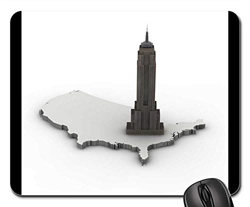 Mouse Pads - Empire State Bulding New York Architecture Building ()