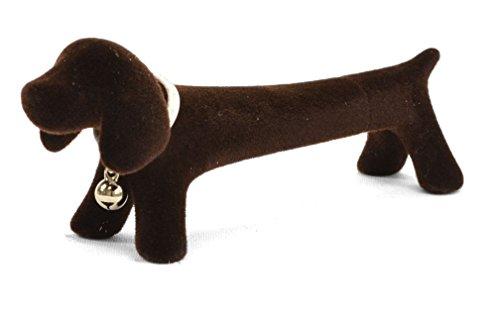 Xonex Doxie Desk Pen, Black Ballpoint, 4 1/2 Inch, Flocked Brown (44537)
