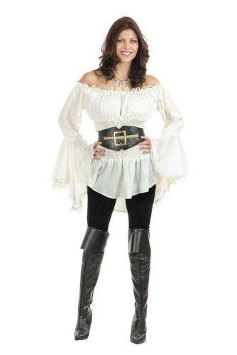 Pirate Vixen Blouse Costume - X-Large - Dress