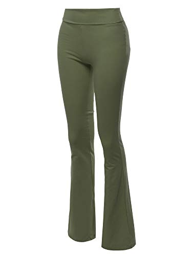 Made by Emma High Waist Stretch Lounge Yoga Pants Dark Olive 1XL ()