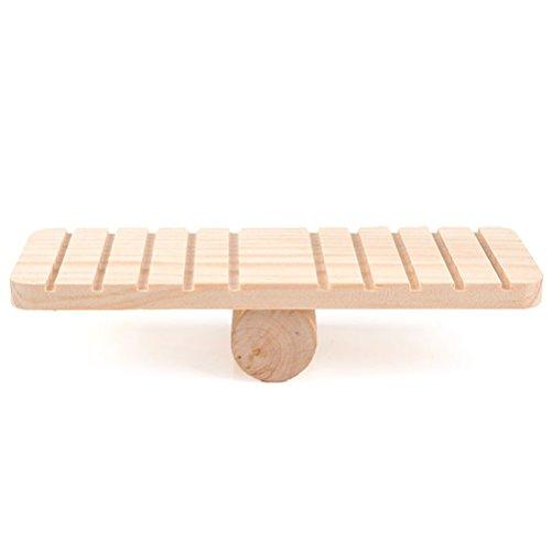 ueetek plataforma de balancín de madera para hámster pequeña de ...