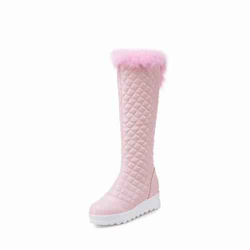 di di di da CLLCR CLLCR CLLCR di Rosa Caldo di Pelle Velluto Cotone Anti Stivali Sci Donna Casual Stivali Spesso Stivali Yards Piatta più 35~43 Caldi Invernali Scarpe 5qgWq6Ac