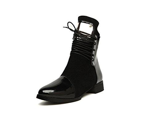 Black boots Boots Doris Ankle Flat Martin Women's Fashion qnwtS0R