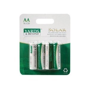 Yards & Beyond Solar Light Battery Aa 900 Mah Card Of 4 by Ace Trading - Jiawei Solar