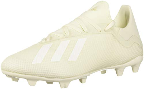 adidas Men's X 18.3 Firm Ground Soccer Shoe, White/Black, 9.5 M US (Cleats Signature)