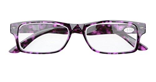 799afa4e99 Eyekepper 5-Pack Spring Hinges Patterned Rectangular Reading Glasses ...