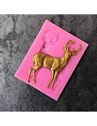 Candy Making Molds, Arts Silicone Mold Cake Cookie Merry Christmas Deer Decoration Cookie Cutter Shape Food Grade Silicone Cake Mold Cake Tools - 1PC