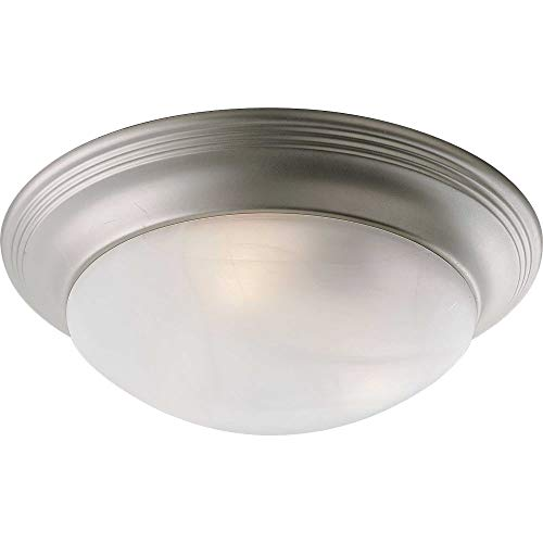 Etched and Faceted Glass Oxford Silver Flush Mount Finish: Brushed Nickel, Size: 5 1/2