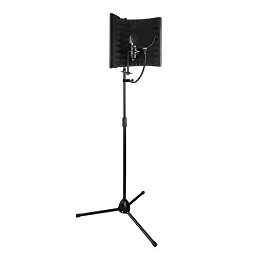 Aokeo Premium Microphone Isolation Shield, Foldable Adjustable Studio Recording Microphone Isolator Panel, Constructed with Industrial Quality Aluminum, High-Density Absorbing Foam Cotton (AO-302) by aokeo (Image #8)