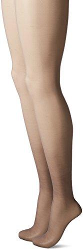 L'eggs Women's Silken Mist 2 Pair Control Top Silky Sheer Leg Panty Hose,Black - 2014 Day Offers Thanksgiving