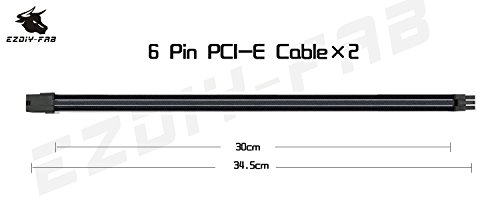 Ezdiy Fab Sleeved Cable Cable Extension For Power Supply
