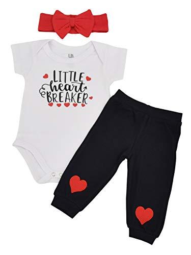 Unique Baby Girl Little Heartbreaker Valentine?s Day Layette Headband (3 Month) Red
