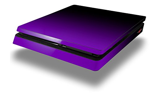 Smooth Fades Purple Black – Decal Style Skin fits Sony PlayStation 4 Slim Gaming Console