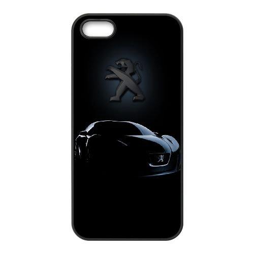 Noir bleuâtre Peugeot FX82VF7 coque iPhone 5 5s étui de téléphone cellulaire coque Q4QS1K8BY