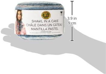 Lion Brand Yarn 455-303 Shawl in a Cake Metallic Yarn Namaste Neutrals